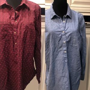 Merona/AND bundle target brand 3/4 button down XL